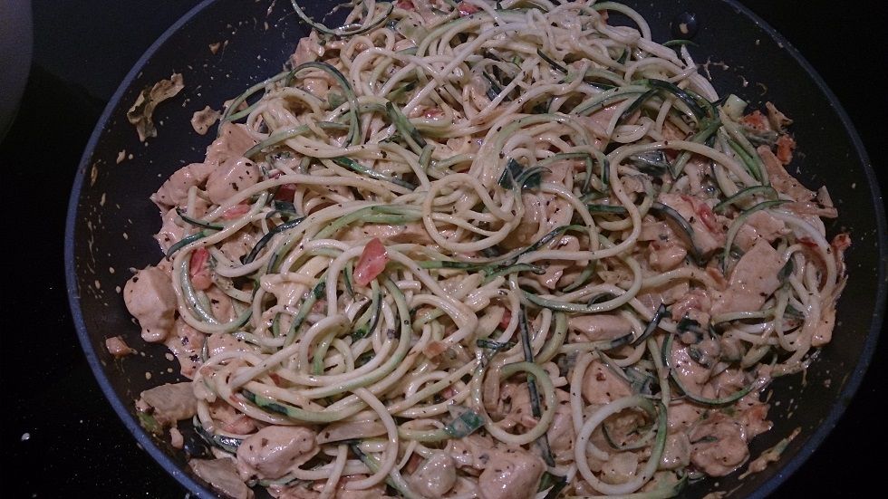Creamy chicken & zoodles 4
