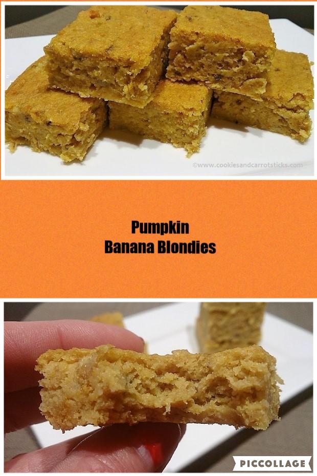 Pumpkin Banana Blondies