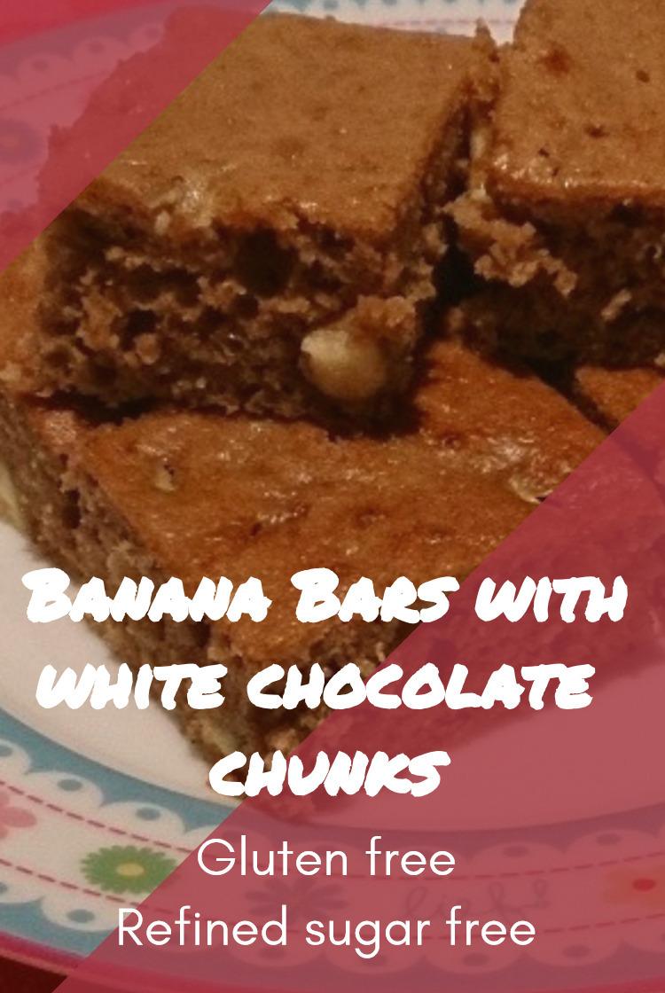 Banana Bars with White Chocolate Chunks