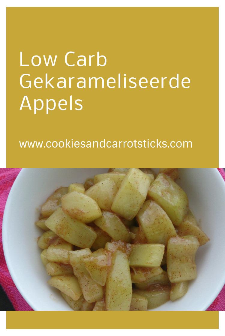 Gekarameliseerd Appels - koolhydraatarm