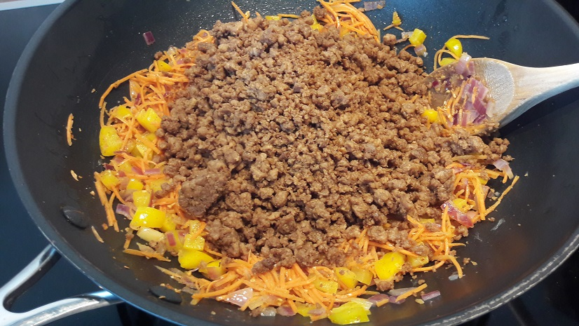 Add ground beef