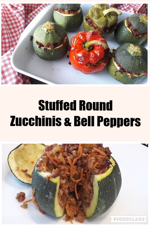 Stuffed Round Zucchinis & Bell Peppers
