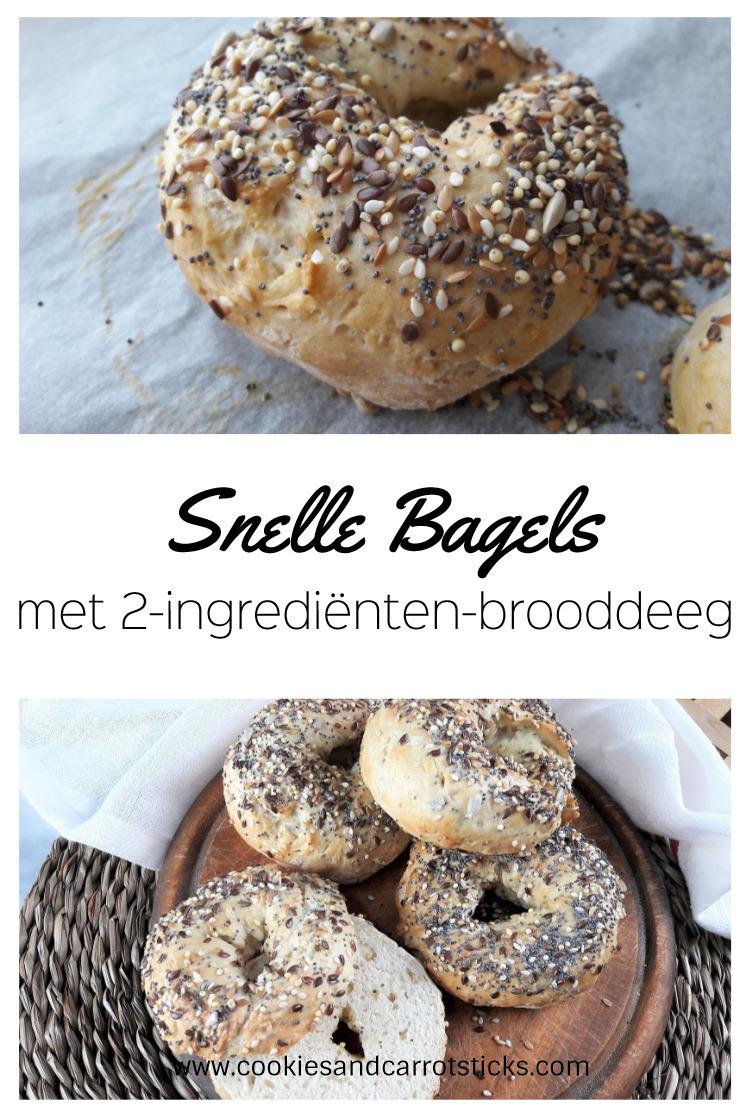 Snelle bagels met 2-ingrediënten-brooddeeg