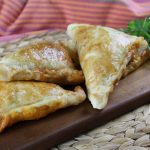 Baked spiced lamb turnovers