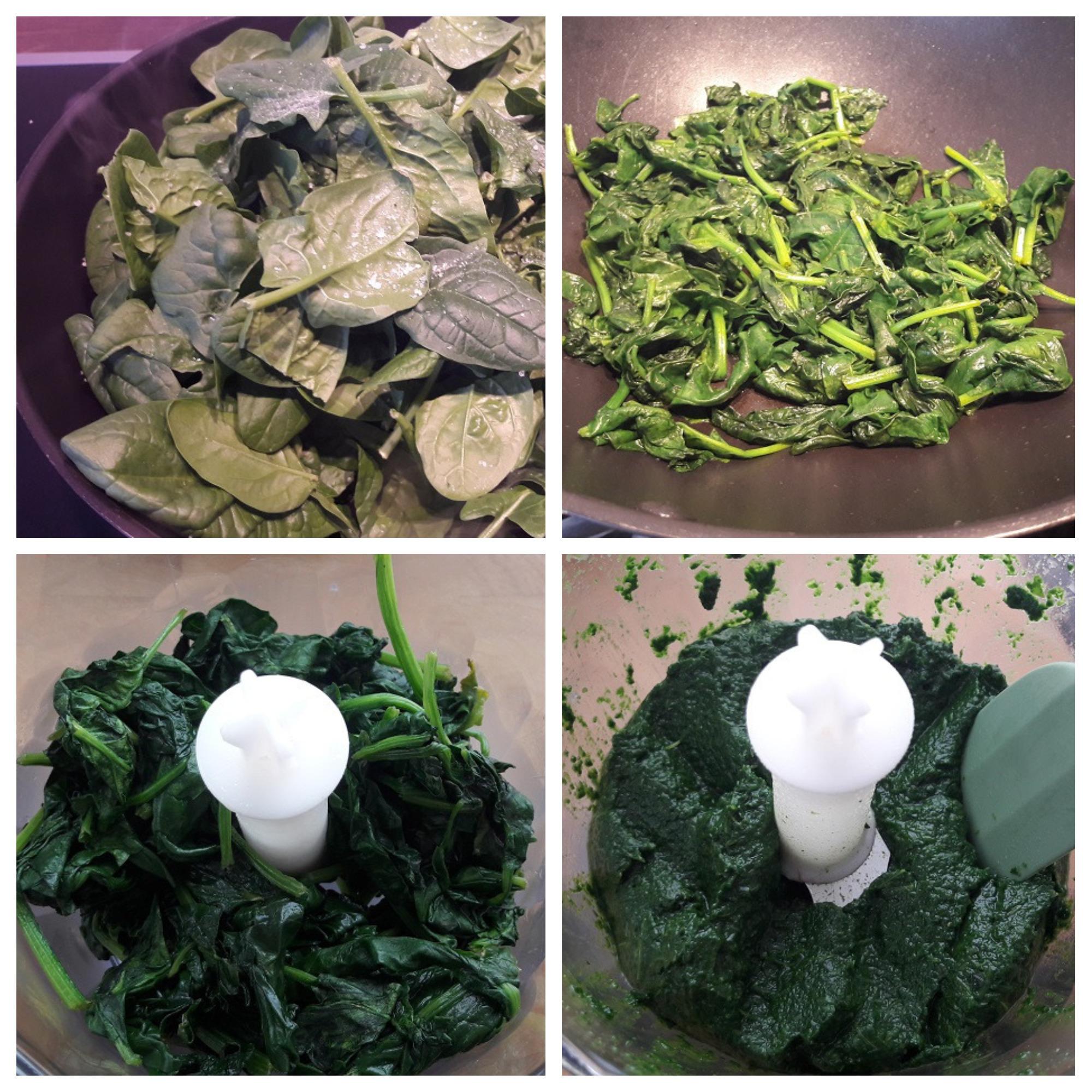 Spinazie roerbakken en pureren