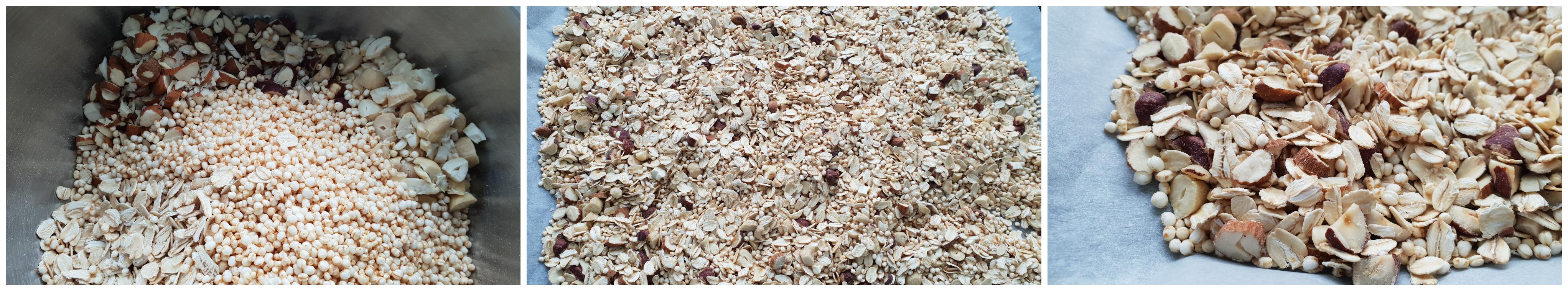 Ingrediënten voor de granola