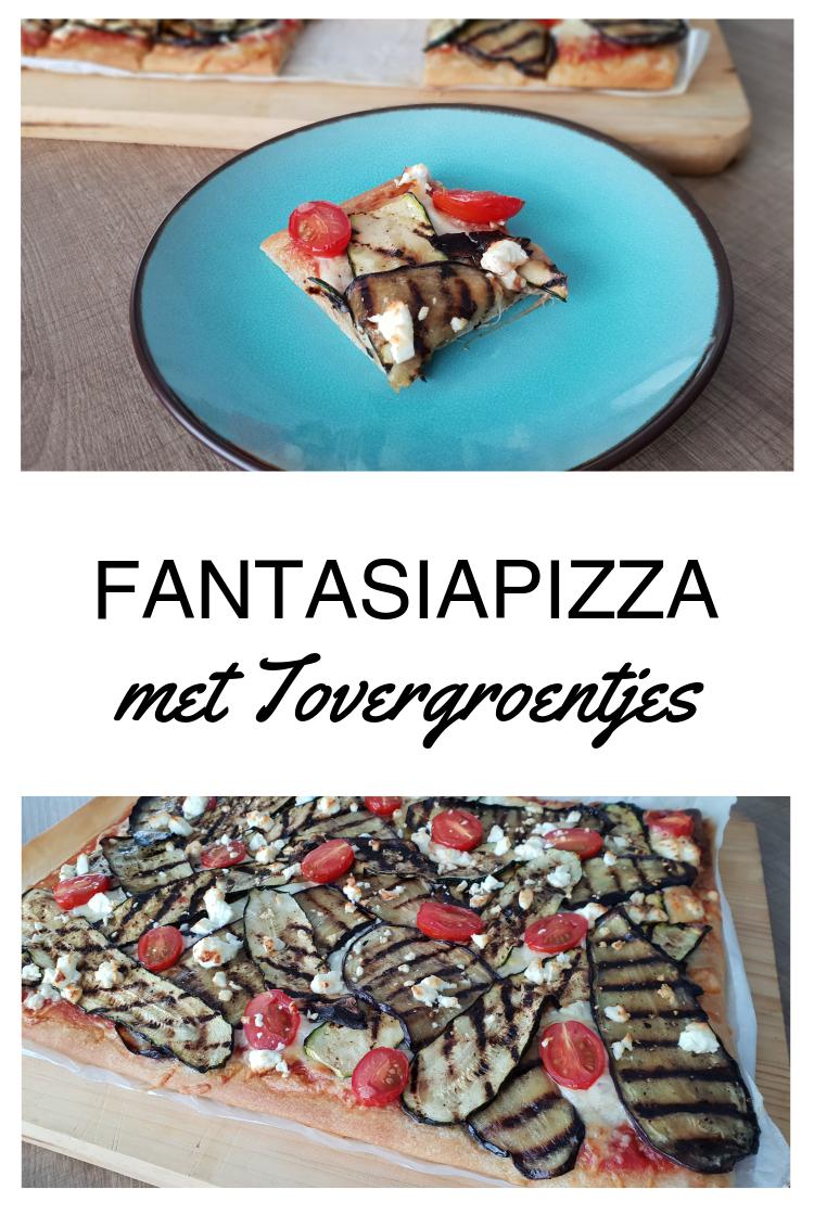 Fantasiapizza met Tovergroentjes