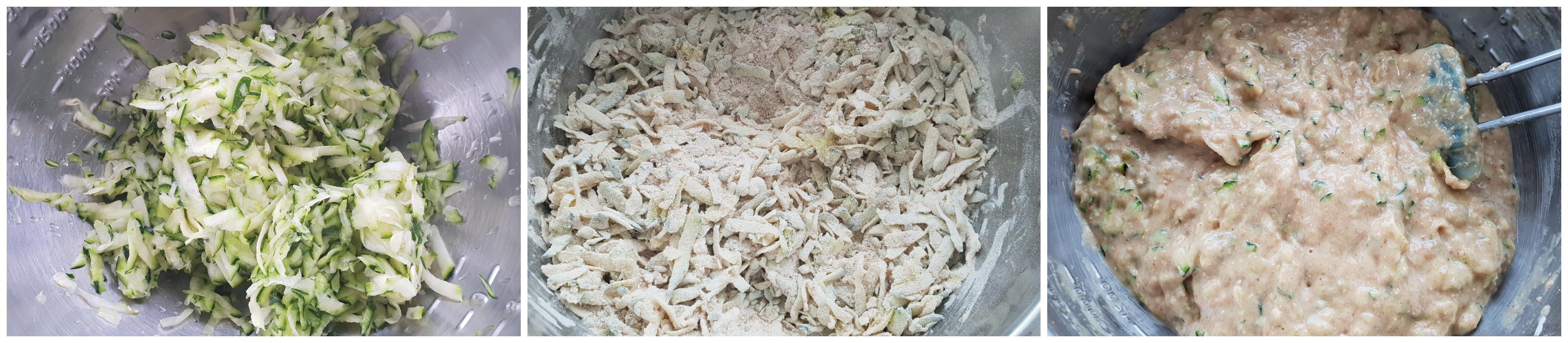 Banaan-Courgette-Wafels beslag maken