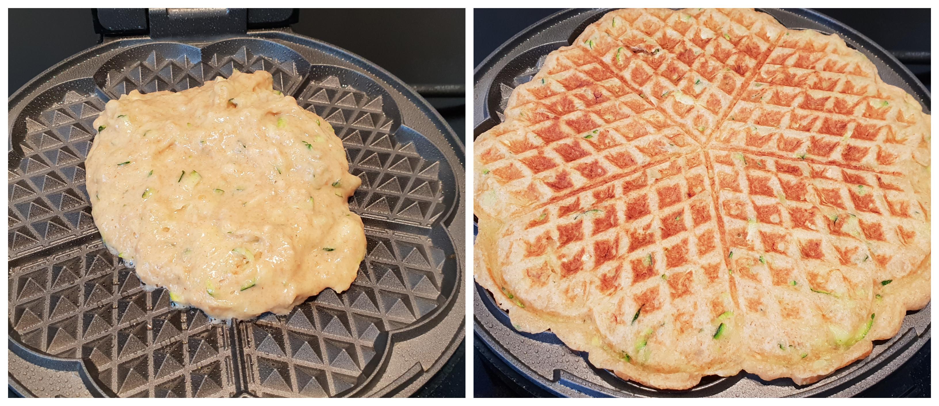 Banaan-Courgette-Wafels bakken