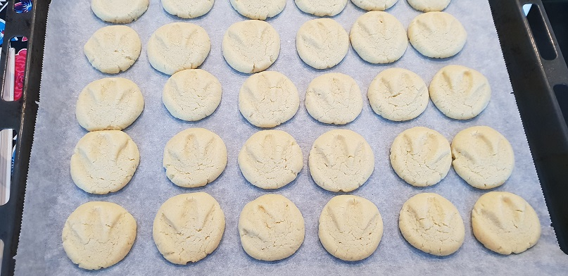 Gebakken dinosporen-koekjes