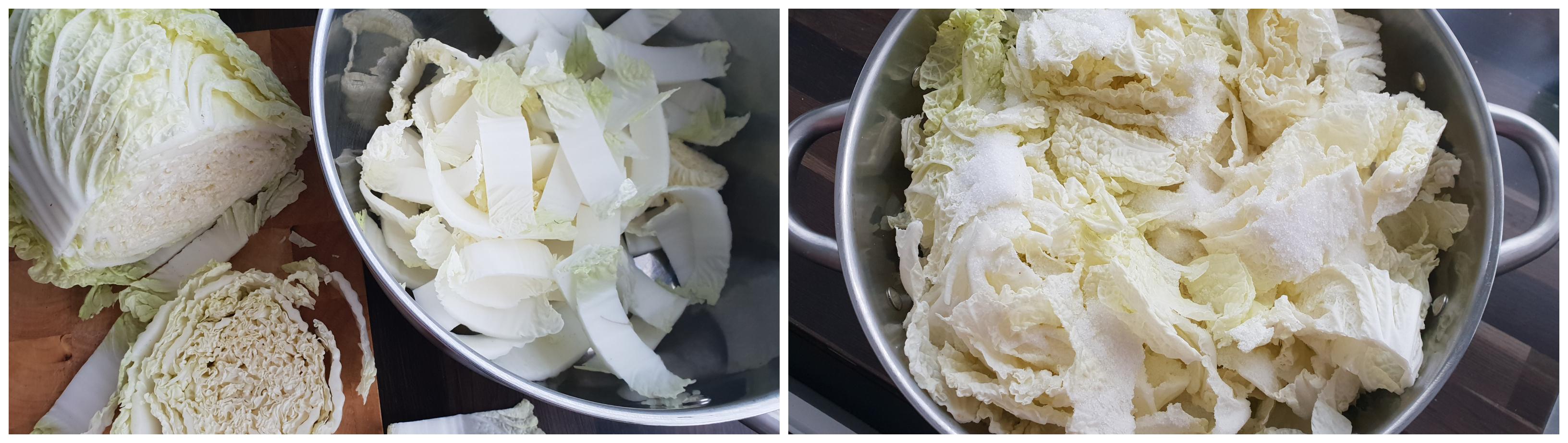 Kool voorbereiden voor Kimchi