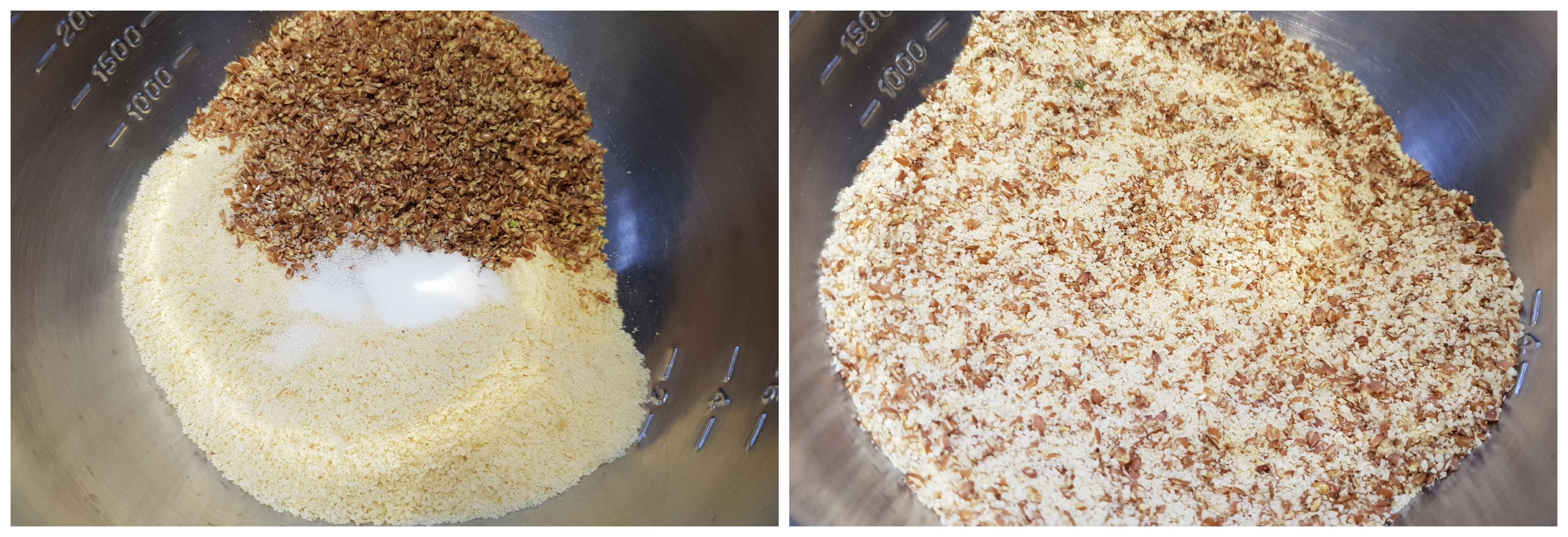 Dadel Amandel Cake - mengen droge ingrediënten