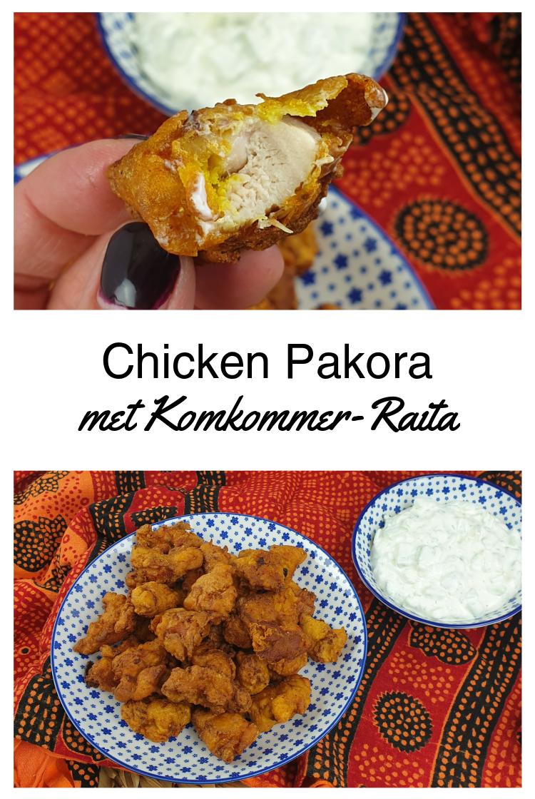 Chicken Pakora (Indiase kipnuggets) met Komkommer-Raita