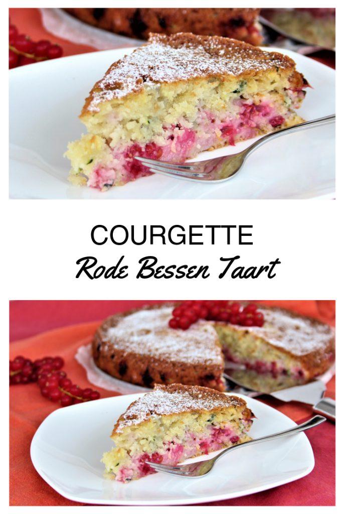 Courgette Rode Bessen Taart