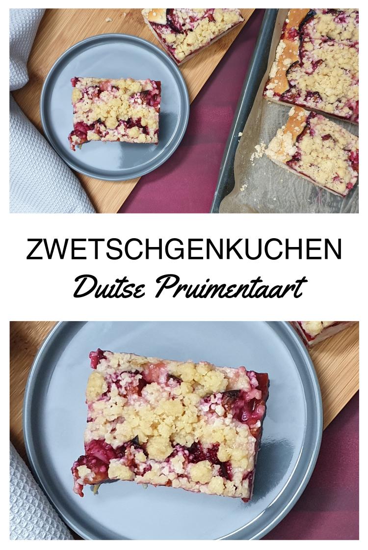 Zwetschgenkuchen - Duitse pruimentaart