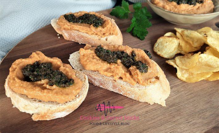 Paprika Bonen Spread met olijventapenade