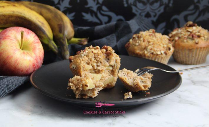 Banaan Appel Speltmuffins
