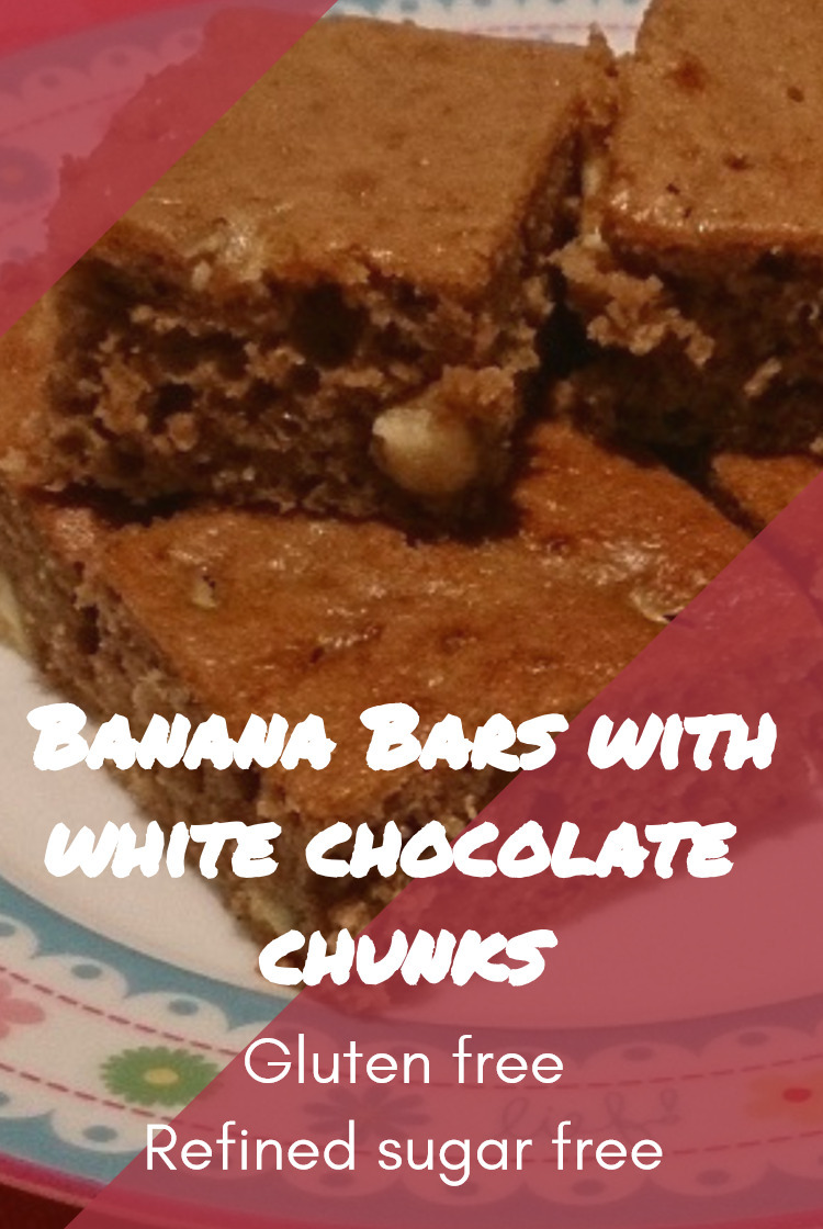 Banana Bars with White Chocolate Chunks