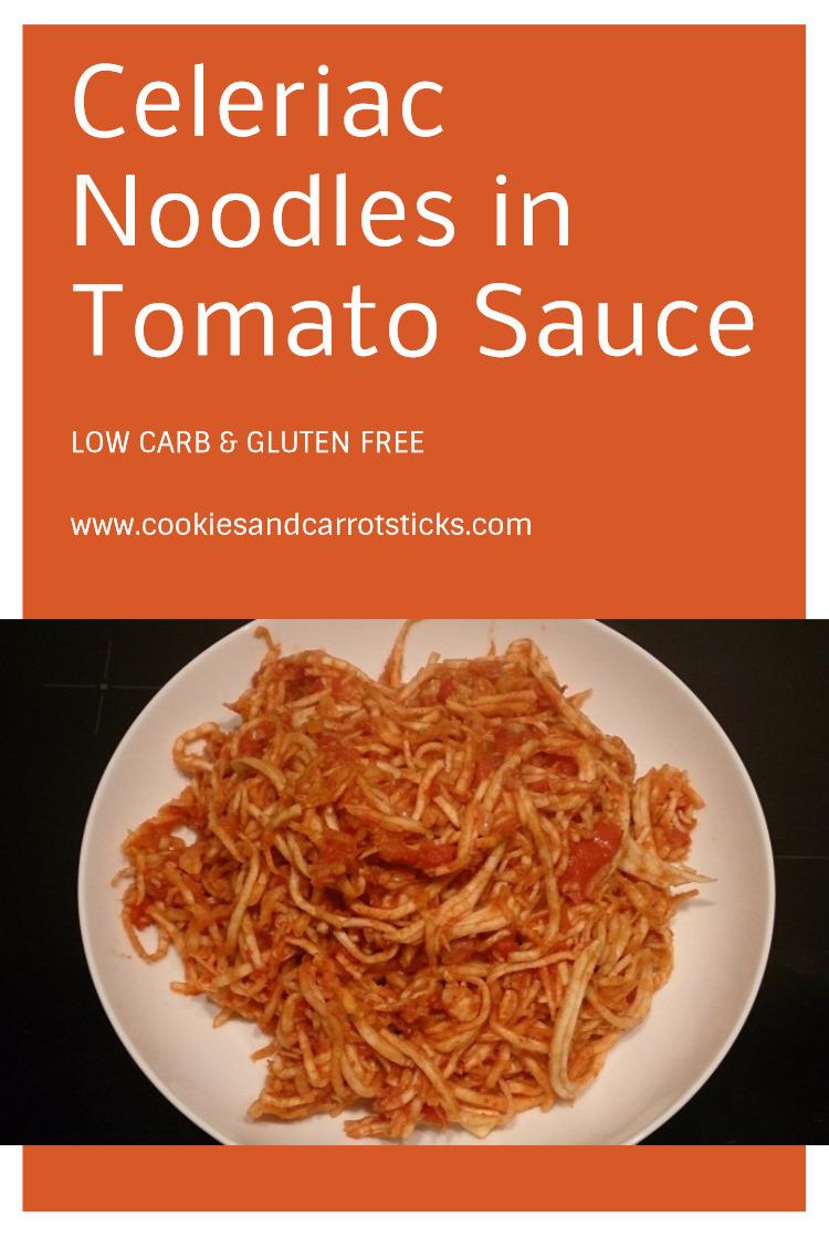 Celeriac Noodles in Tomato Sauce