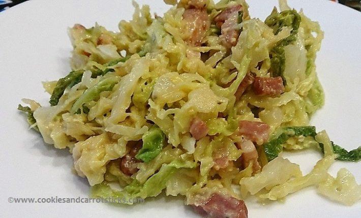 Cabbage à la Carbonara