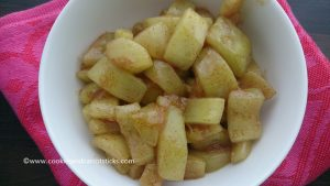 Low Carb Caramalized Apples