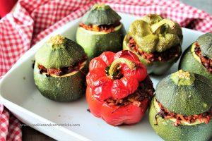 Stuffed Zucchini & Peppers