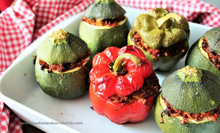 Stuffed Zucchini & Peppers