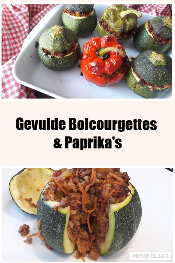 Gevulde Bolcourgettes & Paprika's