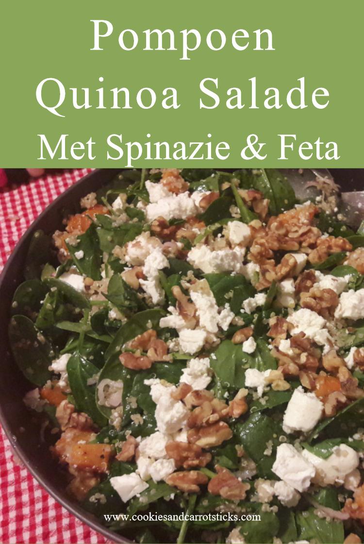 Pompoen Quinoa Salade met Spinazie & Feta