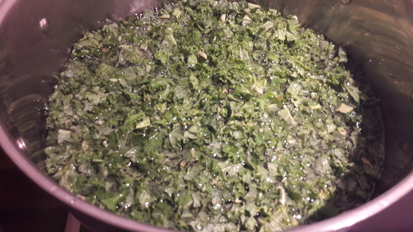 Curly Kale Colcannon with Bacon