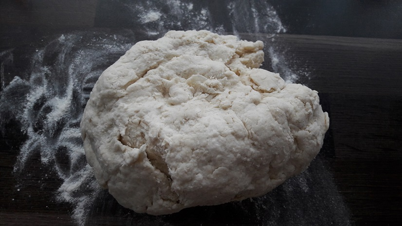 Put dough on a lightly floured surface