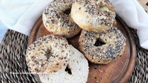 Quick bagels with 2-ingredient bread dough