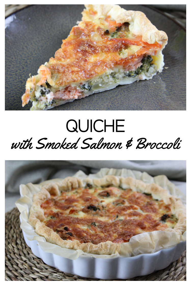 Quiche with Smoked Salmon & Broccoli