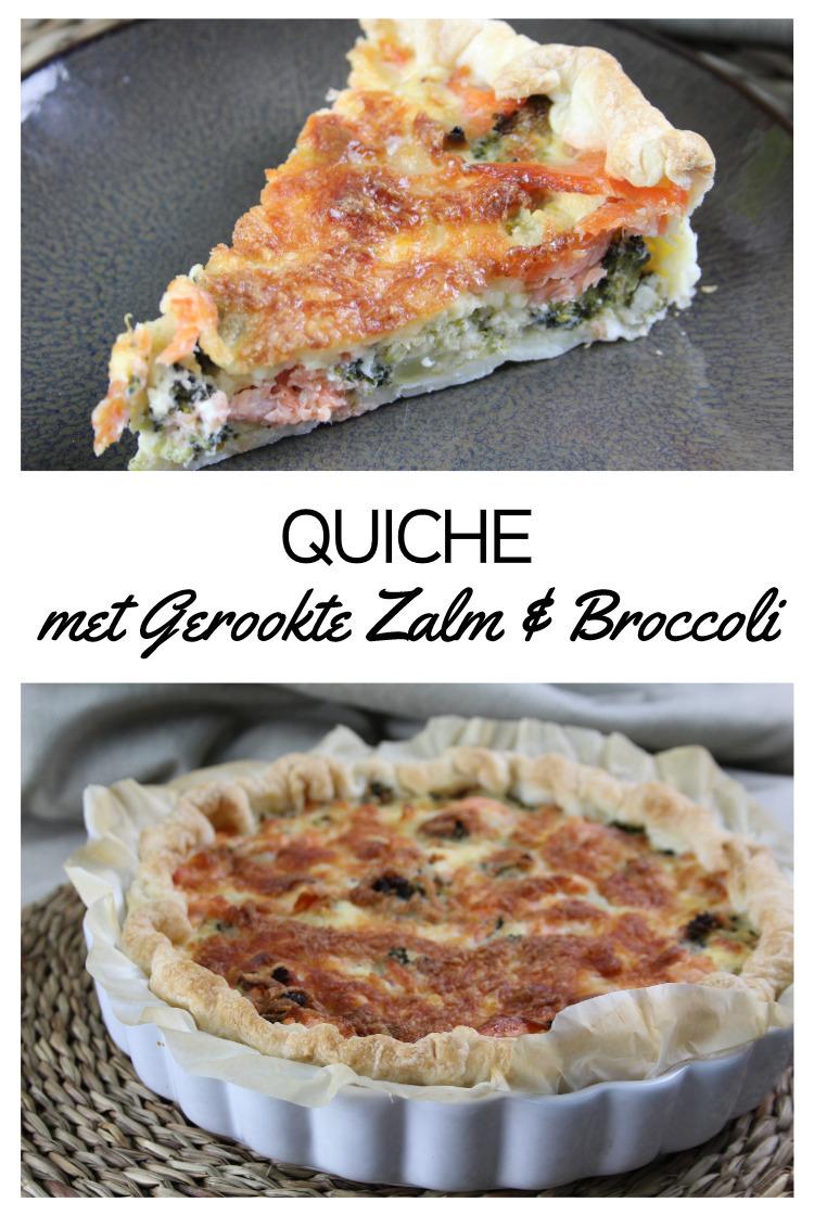 Quiche met Gerookte Zalm & Broccoli
