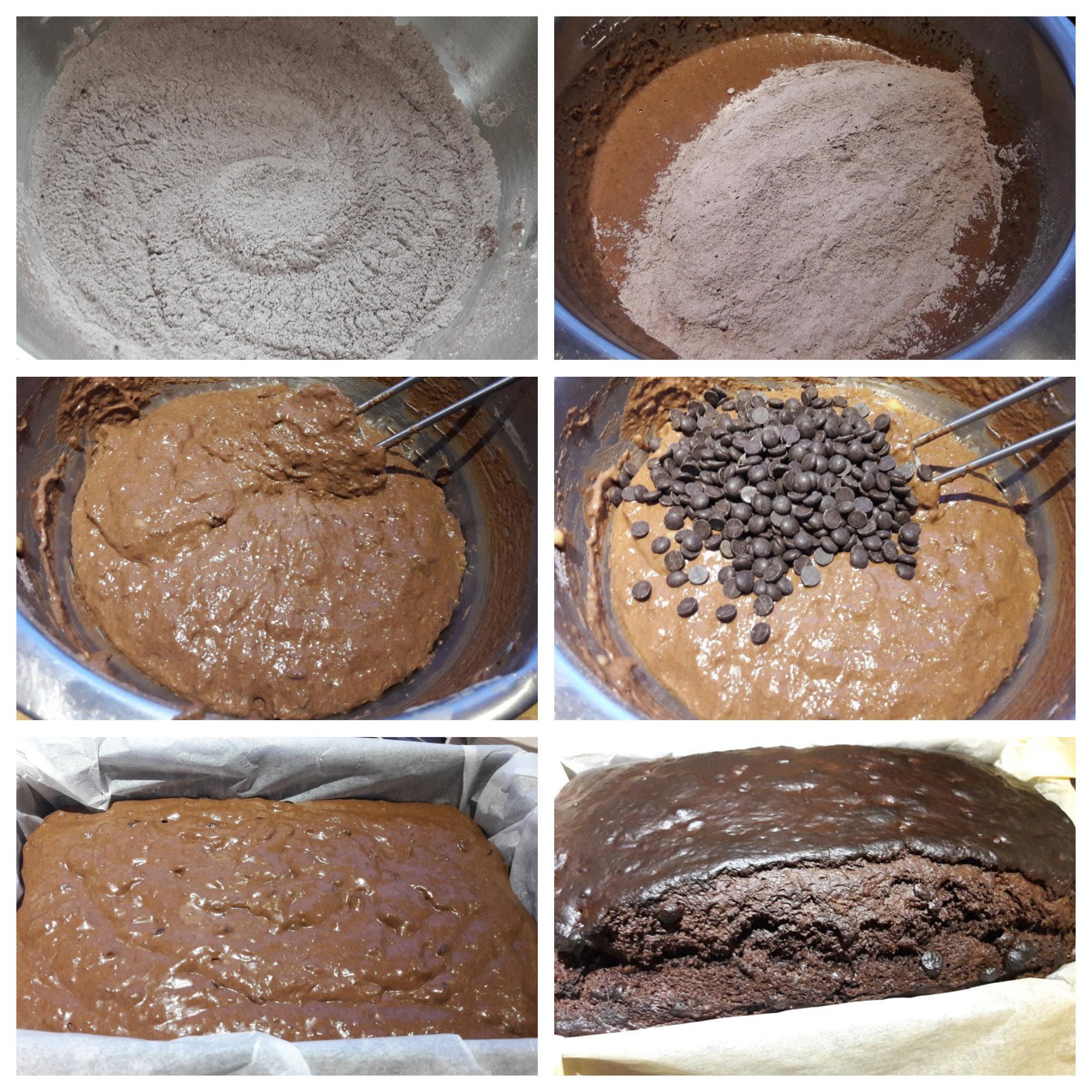 Beslag van het Triple Chocolate Bananenbrood bereiden en afbakken