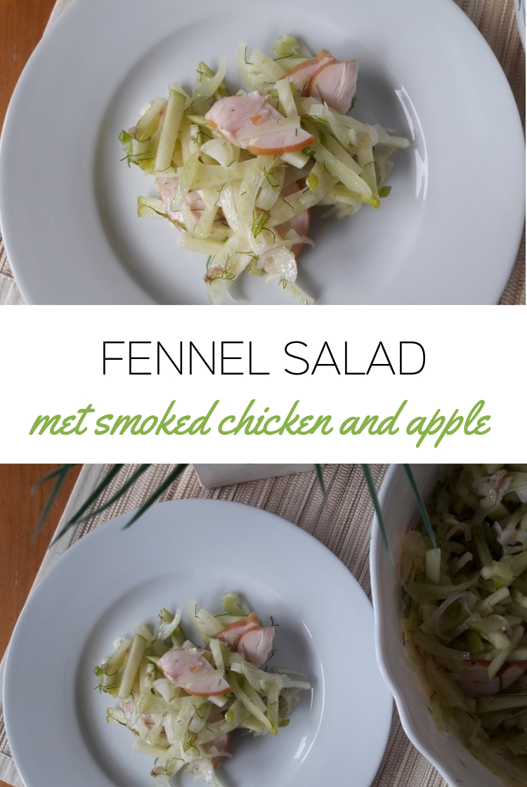 Fennel Salad with Apple & Smoked Chicken Breast