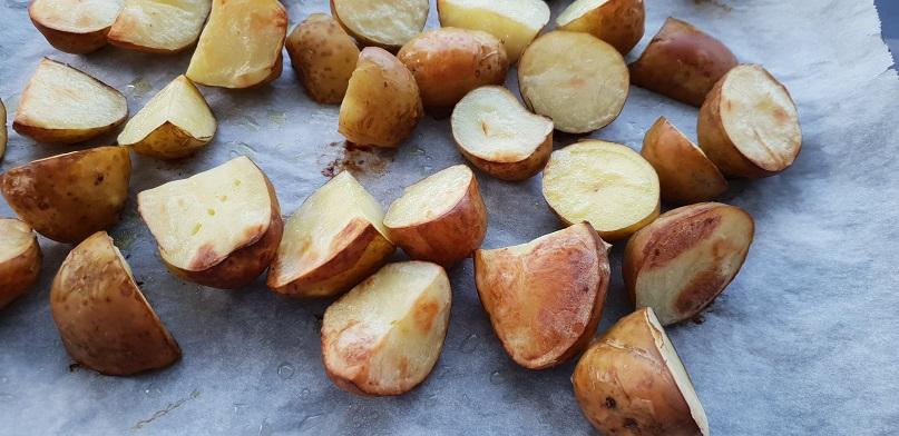 Aardappelen zijn geroosterd