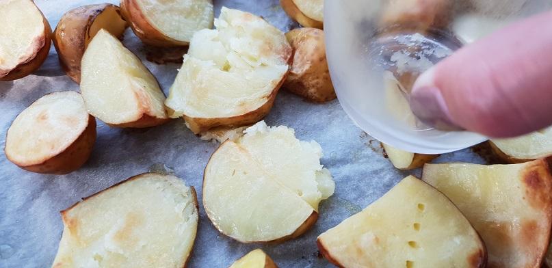 Pletten van de aardappelen