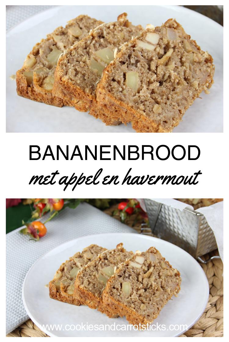 Bananenbrood met appel en havermout