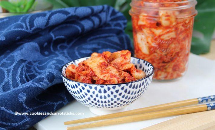 Zelfgemaakte Kimchi