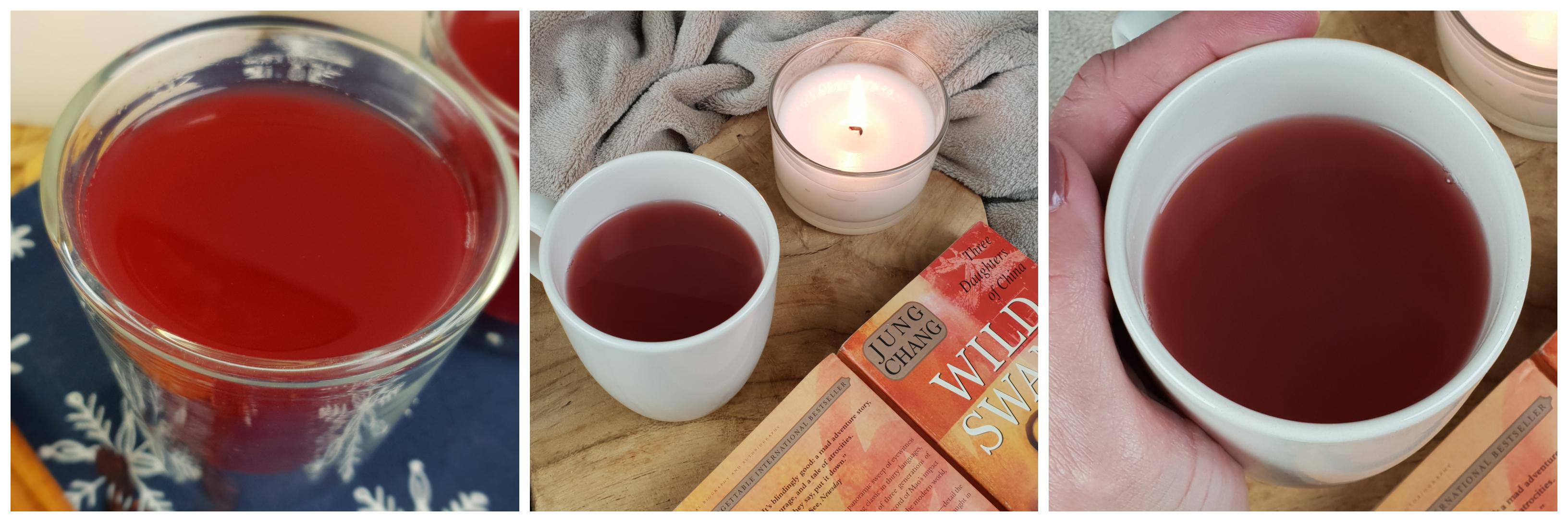 Heerlijke warme appeldrank met hibiscus