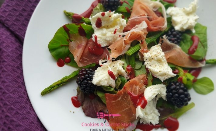 Salade met groene asperges