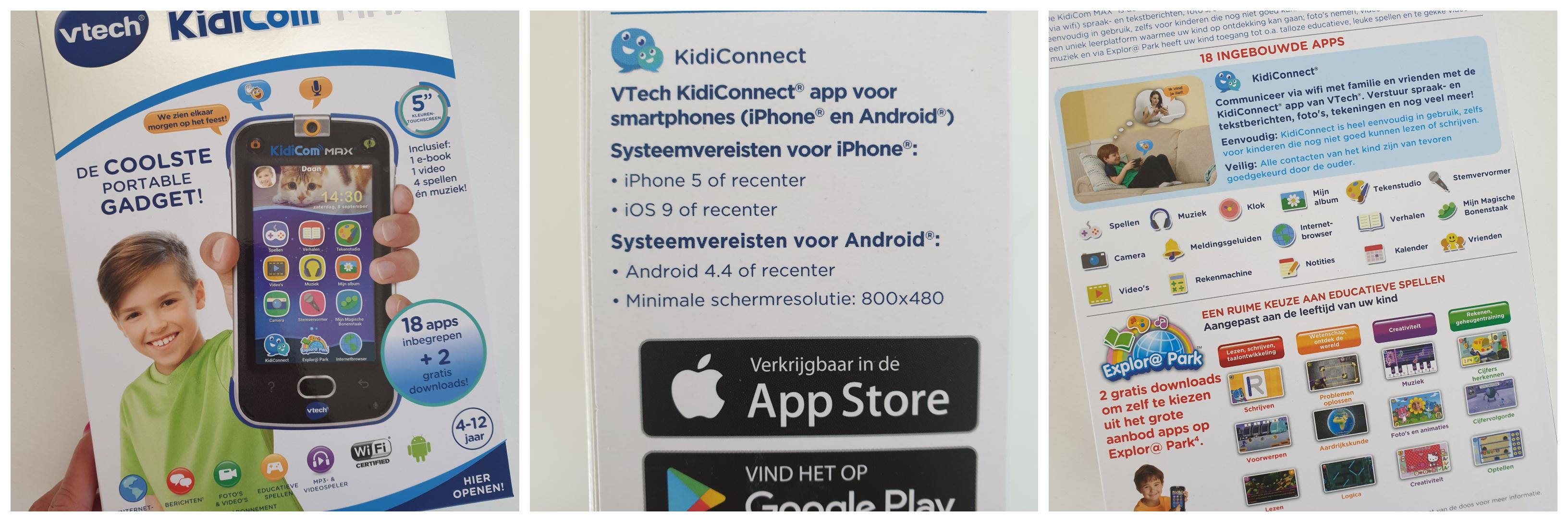 KidiCom Max apps en meer