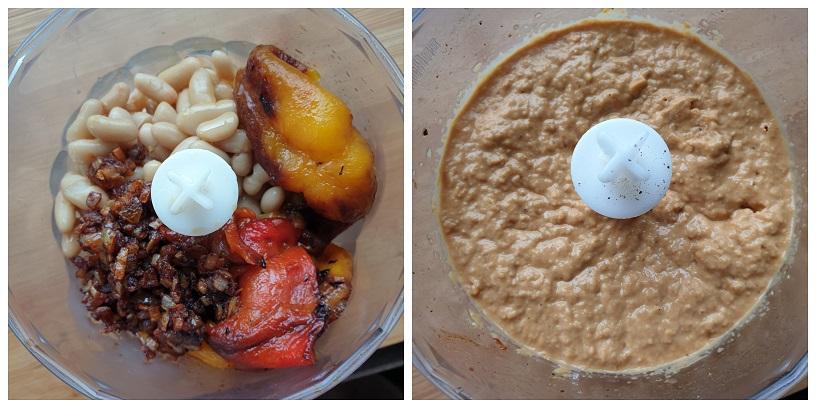 De paprika-bonen-spread maken
