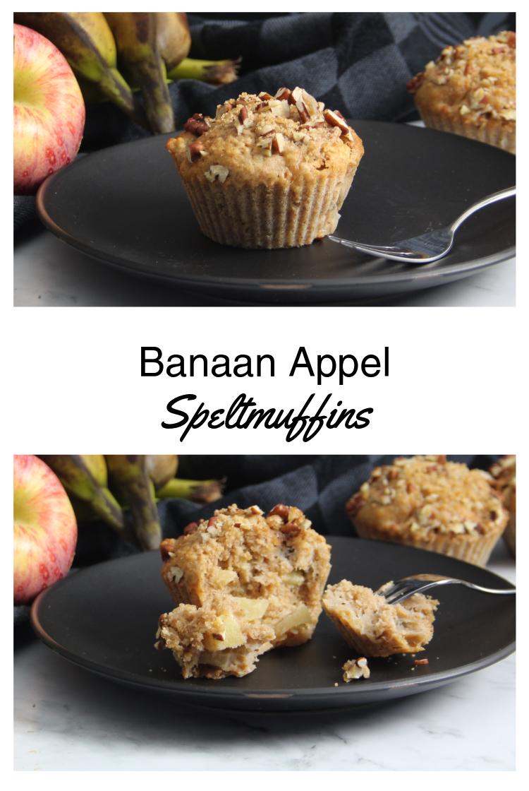 PIN afbeelding Banaan Appel Speltmuffins