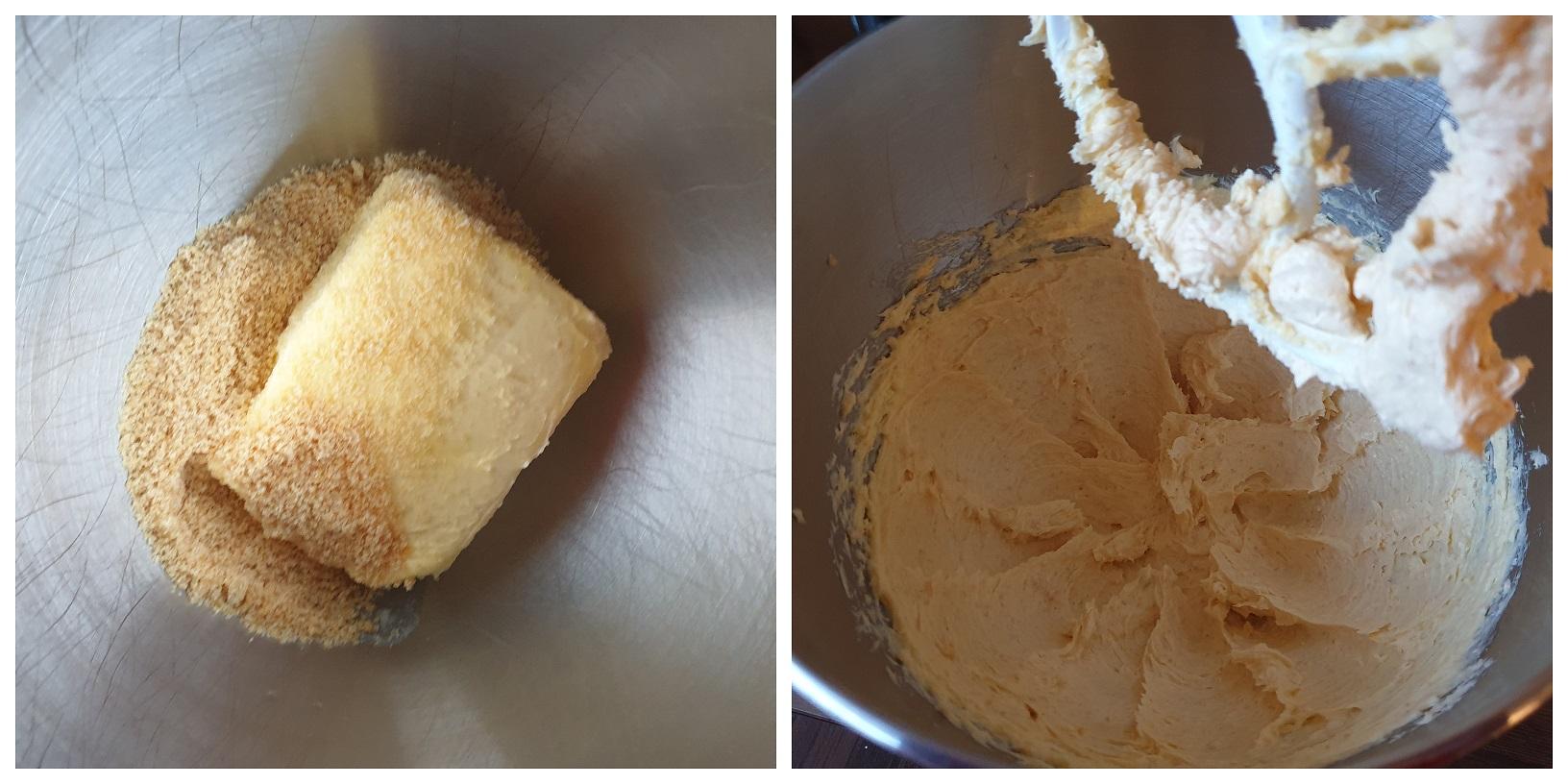 Boter en suiker mengen voor de Sinterklaas Sandwich Cookies