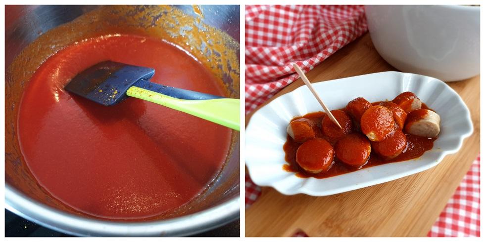 Braadworst met currysaus - Currywurst