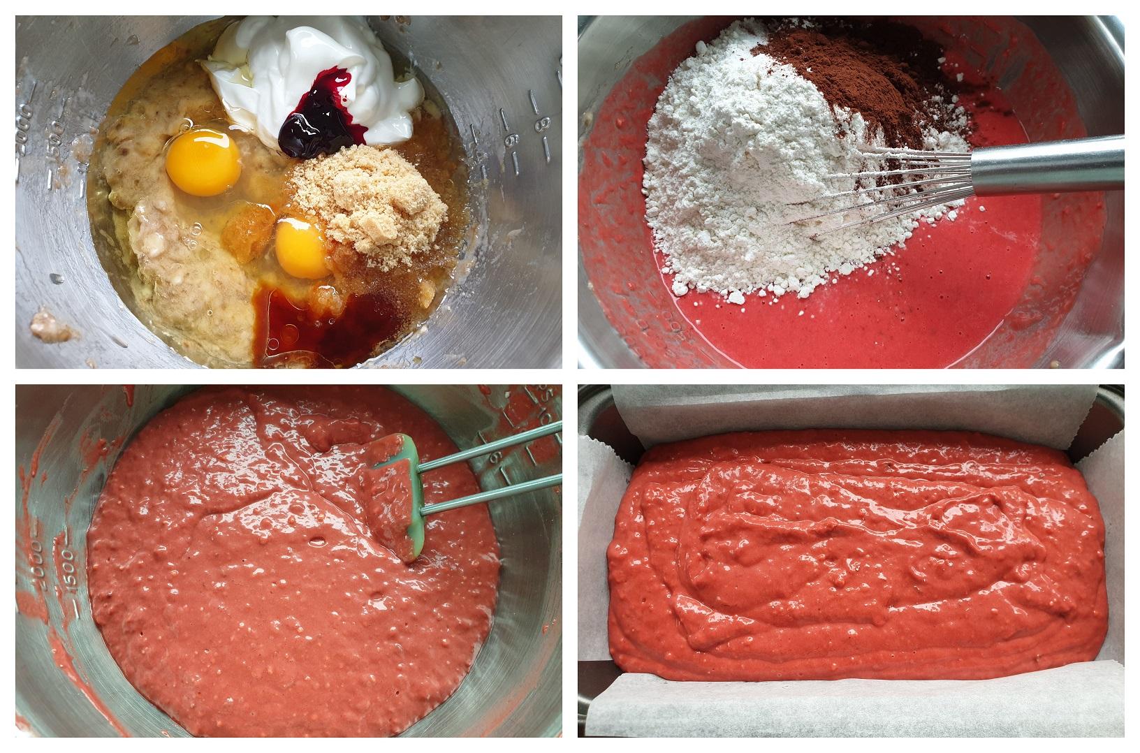 Beslag van het bananenbrood maken