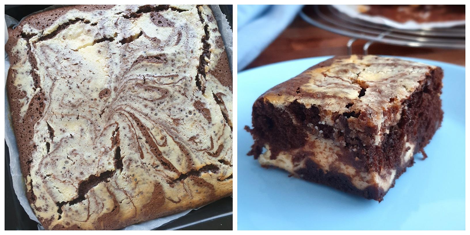 Cream Cheese Brownies - klaar om op te eten