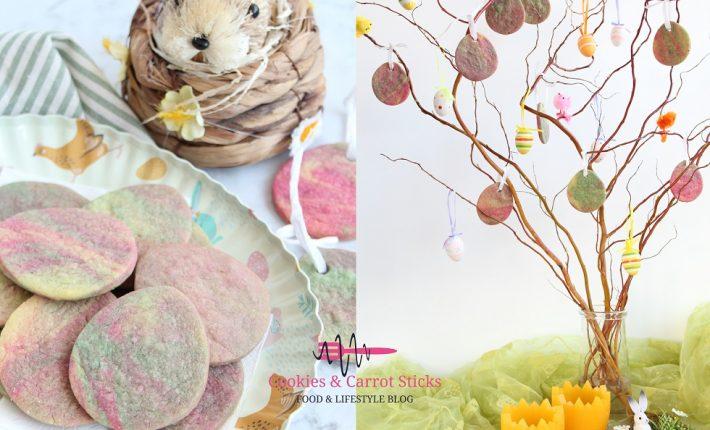 Regenboogkoekjes - eetabre paashangers